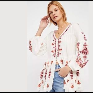 Free People | Arianna Embroidered Tunic Ivory M